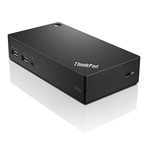 Lenovo ThinkPad USB 3.0 PRO Dock USB 3.0 (3.1 Gen 1) Type-A Black - Notebook Docks & Port Replicators (Cable, USB 3.0 (3.1 Gen 1) Type-A, 3.5 mm, 10,100,1000 Mbit/s, 45 W)
