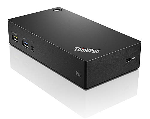 Lenovo ThinkPad USB 3.0 Pro Dock - Base (Cable, USB 3.0 (3.1 Gen 1) Type-A, 3,5 mm, Negro, FCC/ICES CE KCC RCM BSMI VCCI CB UL+cUL EAC TUV Mark Serbia Kvalitet)