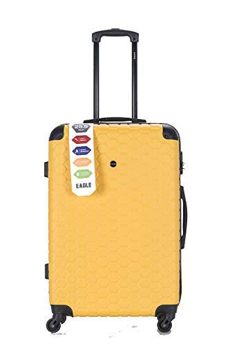 Maleta de equipaje de viaje de ABS de 4 ruedas Spinner Trolley bolsa de equipaje cerradura de combinación 4 esquina giratoria ruedas