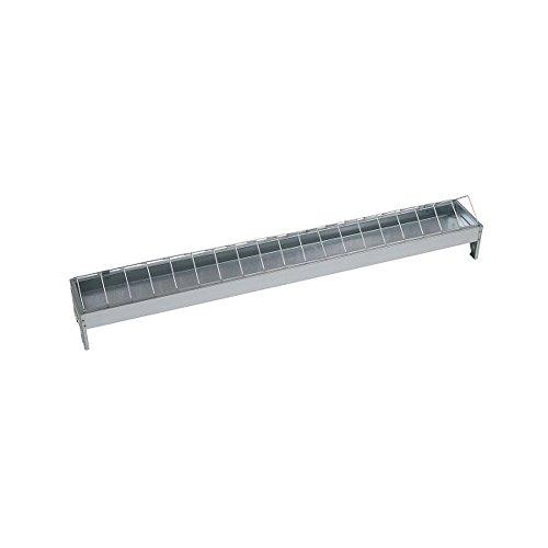 Kerbl 71303 - Comedero galvanizado para gallinas (100 cm de Largo, 10 cm de Ancho)
