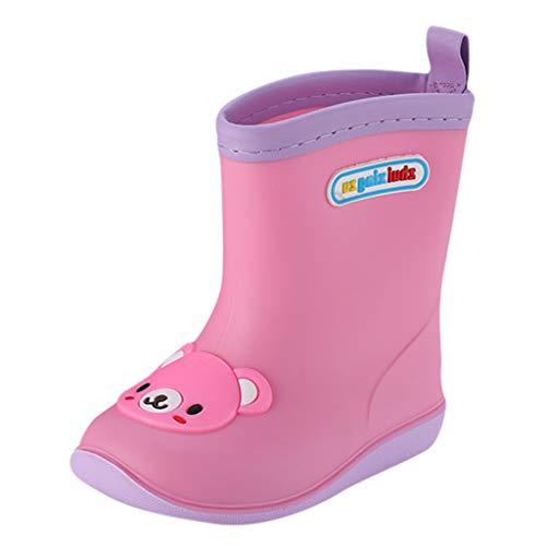 Snakell Baby Kinder PVC Regen Schuhe Mädchen Jungen Regenstiefel Bequem Weicher Boden Gummistiefel Mode rutschfest Rain Boot Outdoor Wasserdicht Boots Stiefeletten Kinderschuhe Kinderschuh rutschfest