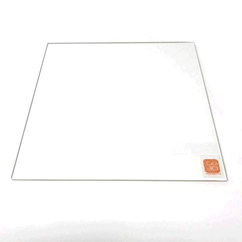 GO-3D PRINT 510mm x 510mm Borosilicate Glass Plate/Bed w/Flat Polished Edge for Creality CR-10 S5 3D Printer