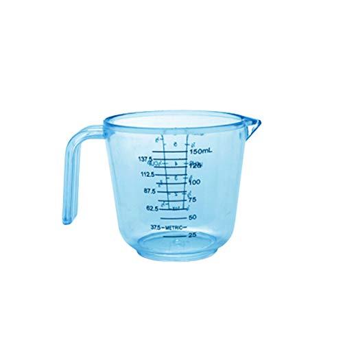 LPxdywlk Taza Medidora De 150/300/600 Ml Taza De Escala De Huevo De Leche De Agua Con Herramienta De Medición De Mango Azul 150 ml