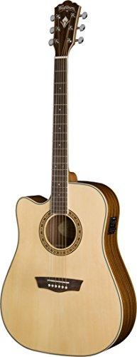 Washburn WD10SCE LH Guitarra acústica Dreadnought Cutaway versión de la izquierda