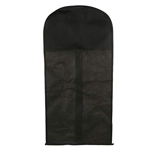 Housse de protection à fermeture éclair en PVC pour vêtements, chapeaux, perruques - Noir