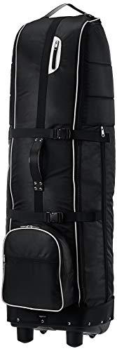 Amazon Basics - Bolsa de transporte para golf con laterales flexibles, plegable, color Negro