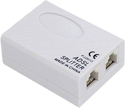 Storite ADSL/VDSL/APDT Splitter for Landline Telephone and Broadband Modem Box Internet Phone Filter Splitter - 6P2C RJ 11 Female Jack to 2X 6P2C Double Female Jack Adaptor