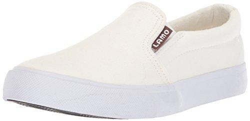 Lamo Women's Piper Casual Slip On Sneaker Shoe, Canvas, White, 9 M US
