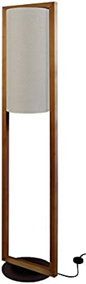 Tosel 51278 Lampadaire 1 Lumière, Bois, E27, 40 W, Marron, 35 x 165 cm