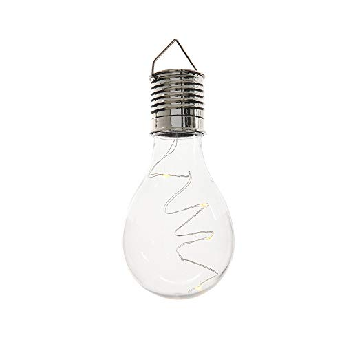 Ampoule transparente LED solaire extérieure