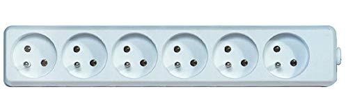 PremiumCord verlengkabel 230 V - niet monteerbaar 6 stopcontacten