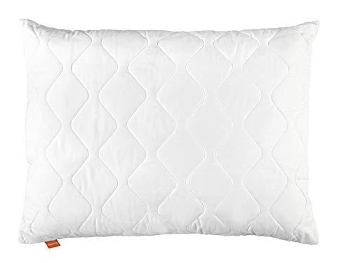 sleepling 190011 Basic 100 Kopfkissen Mikrofaser 70 x 90 cm, weiß