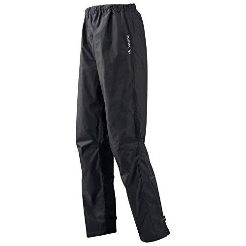 Vaude Fluid Pants II Men Regenhose + Lange +Kurze Größen, Black, XL Kurzgröße