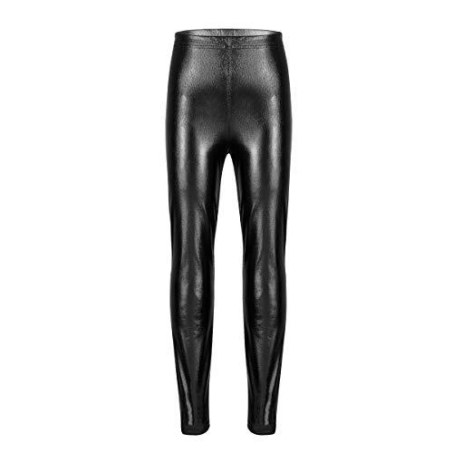 Aislor Niñas Pantalones Leggings Metalizados Pants Leotardos Brillantes Leggings Brillo de Danza Baile Moderna Pantalones Leotardos de Gimnasia Deporte Actuación