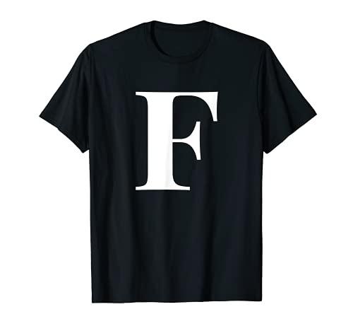 Nombre personalizado Letra inicial del alfabeto F regalo regalo Camiseta
