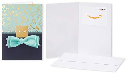 Amazonギフト券 グリーティングカードタイプ - バリアブル(青のリボン)