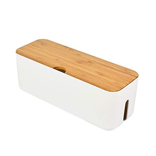 FLLOVE FANGLIANG Caja de enrutador WiFi inalámbrico Wood-plástico Pared de plástico Caja de Almacenamiento Caja de Almacenamiento Tira de Alambre gestión de Alambre Conector ordenado Ordenador