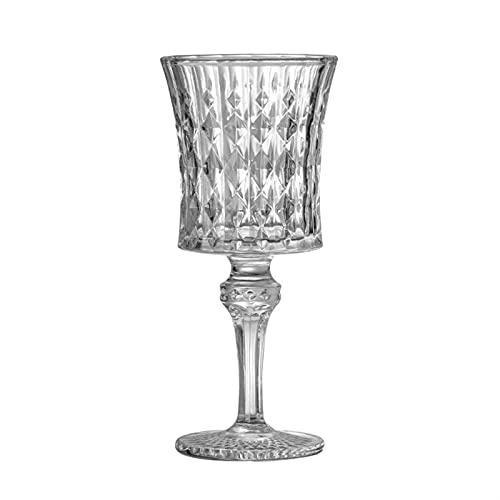 Vidrio sin plomo europeo vino rojo vídeo vintage champán vidrio tallado cóctel copa copa pequeña barra clásica copa de vino (Color : 150ml)