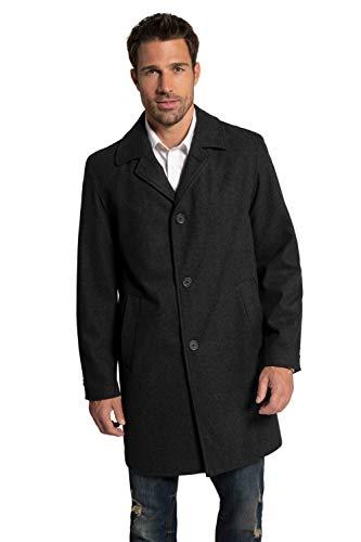 JP 1880 Herren große Größen Übergrößen Menswear L-8XL bis 7 XL | Wollmantel | Knopfleiste | Reverskragen | gefüttert | 2 Taschen | anthrazit 3XL 705472 11-3XL