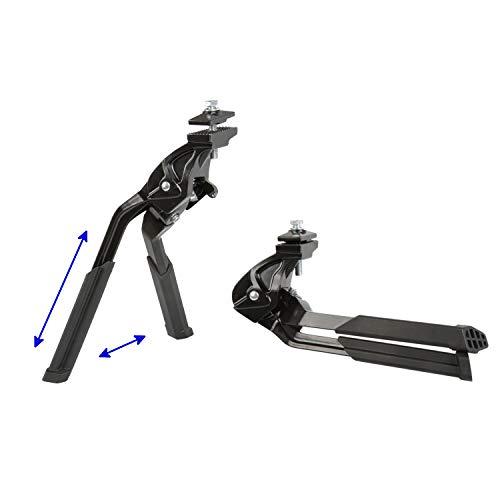 Eigenmarke Alu Zweibein Fahrradständer Doppelständer Seitenständer, einseitig klappbar 24-29 Zoll