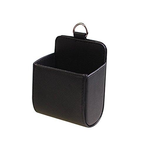 WINOMO Auto Ablage Tasche Pocket Handyhalterung hängen Organizer zum Aufbewahren von Münzen und Kleinteilen (Schwarz)