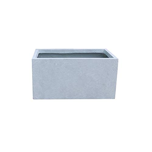 Kante RF0104A-C60611 Lightweight Concrete Modern Long Low Outdoor, Small Planter, Slate Gray