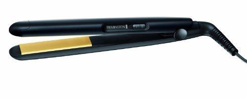 Remington Slim Compact S1450 - Plancha de Pelo, Compacta, Cerámica, Placas Flotantes, Negro