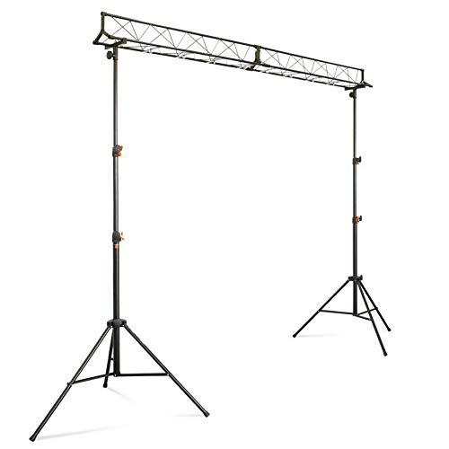 ETEC Licht Stativ Set LS-4 mit 3-Punkt Traverse - DJ Stand Bühne Truss Stand Light Stand Traversensystem Lichtstativ Quertraverse