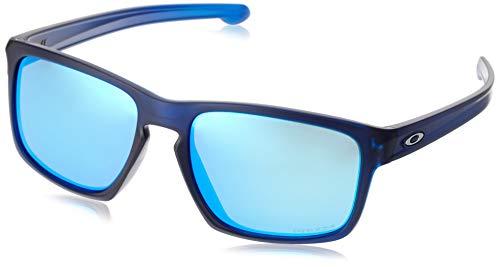 Oakley Men's Sliver Asian Fit Sunglasses,OS,Matte Translucent Blue/Prizm Sapphire