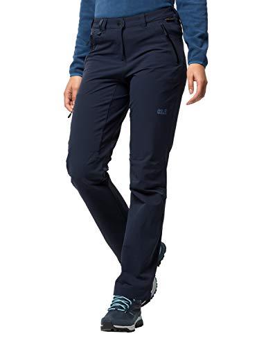 Jack Wolfskin Activate XT Damen vielseitige Damen Softshellhose, wind- und wasserabweisende Outdoorhose, Blau (Midnight Blue), 46
