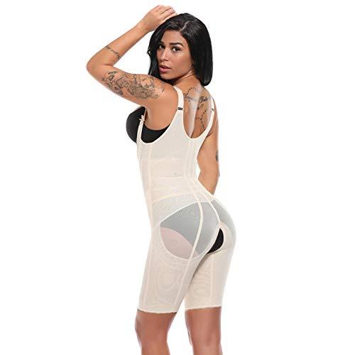 chuanglanja Damen Ganzkörper Shaper Taille Cincher Underbust Korsett Verstellbare Taille Trainer Firm Bodysuits Postpartum Shapewear Plus Size-2XL