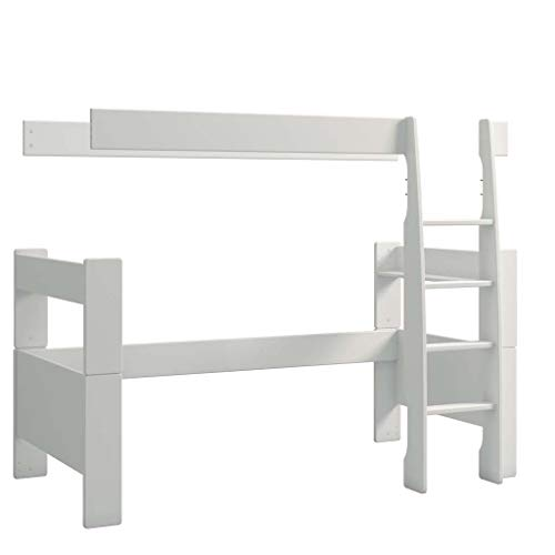 Steens For Kids Umbausatz vom Kinderbett For Kids zum Hochbet, Liegefläche 90 x 200 cm, MDF, weiss