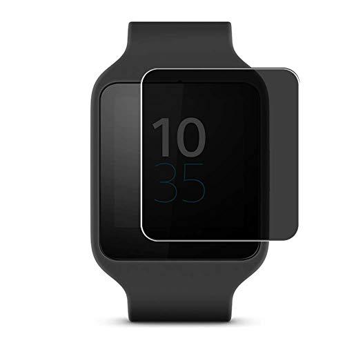 Vaxson TPU Pellicola Privacy, compatibile con Sony Smartwatch 3 Smartwatch Hybrid Watch, Screen Protector Film Filtro Privacy [ Non Vetro Temperato ]