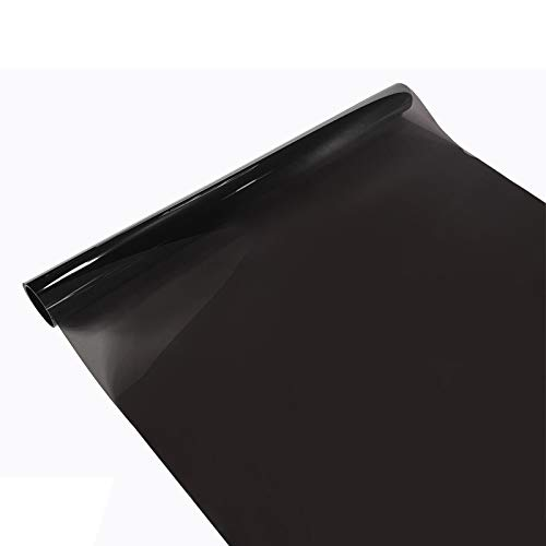 Askol Decomeister Tönungsfolie Sichtschutzfolie Fensterfolie UV-Schutz Hitzeschutz Folie Blendschutz Innenmontage Montagezubehör im Set enthalten 50x300 cm VLT 25% Black