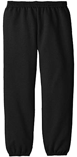 Joe's USA - Youth Soft and Cozy Sweatpants Black. Size Youth XL(18-20)