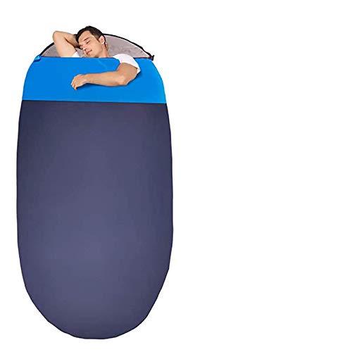 Schlafsack in Eiform, für Camping, leicht, 4 Seaon, tragbar, für Erwachsene, Wandern, Reisen, Outdoor, Marineblau, 1,6 kg