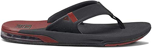 Reef Mens Fanning Low Fashion casual Flip-Flop,  Black/Rust,  8 UK