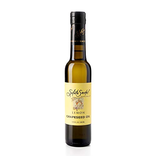 Healthy Grapeseed Oil for Cooking, Infused Lemon, 200 mL Bottle