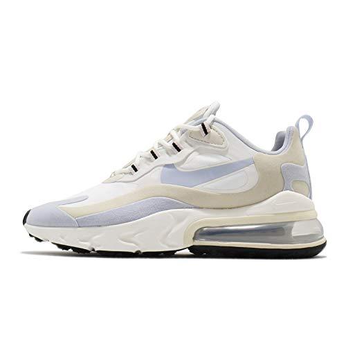 Nike W Air Max 270 React, Scarpe da Corsa Donna, Summit White/Ghost-Fossil-Sail-Black-Barely Rose, 38 EU