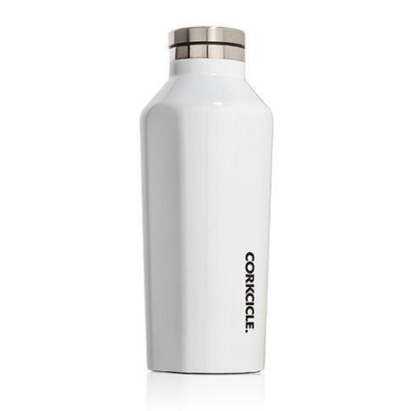 Corkcicle Canteen, bottiglia d'acqua e thermos a tripla tenuta termica e acciaio inox infrangibile, Acciaio inossidabile, White, small