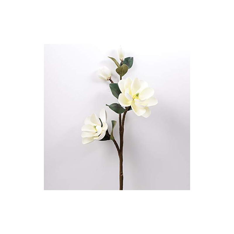 silk flower arrangements chxihome artificial flowers, magnolia table arrangement, fake flower teddy fresh navy blue flores artificiales, magnolia artificial flowers(white)
