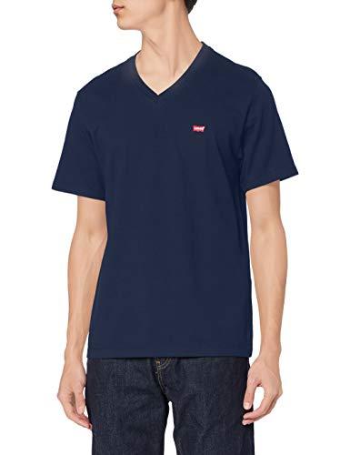 Levi's Orig Hm Vneck Camiseta, Blue (Dress Blues 0002), Medium para Hombre ✅