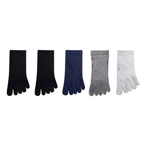 GDSMTG Calcetines de la Punta de los Calcetines de algodón de los Hombres Que absorben el Sudor de los Calcetines delicados en la Primavera y el Verano Mecha (Color : Colour F)