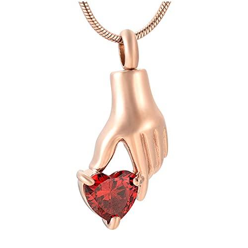Wxcvz Colgante para Conmemorar Soporte De Collar De Cremación De Oro Rosa con Incrustaciones De Cristal Transparente para Mujer, Joyería De Moda para Poner Cenizas