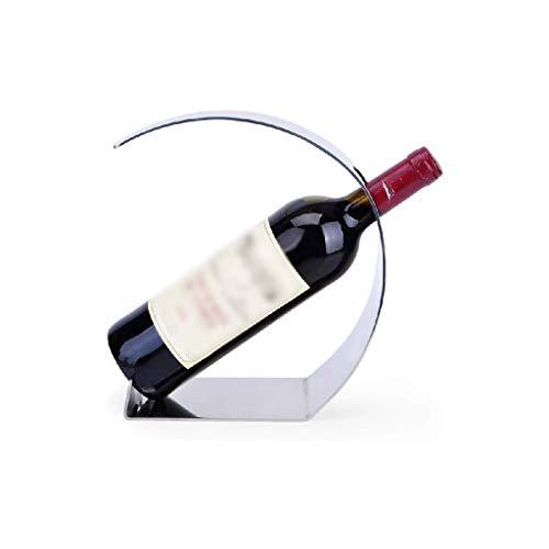 NXYJD Iron & Wine Rack Luna Estante Forma Vino Inicio Personalidad Restaurante de la Cocina de Acero Inoxidable Estante del Vino Botellas encimera Gabinete Bodega Holder