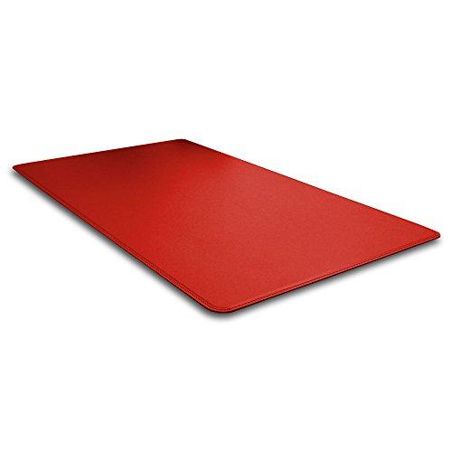 Eglooh - Herms - Protector Mesa Escritorio de Oficina en Cuero Rojo Ferrari cm 65x45 - Alfombrilla R