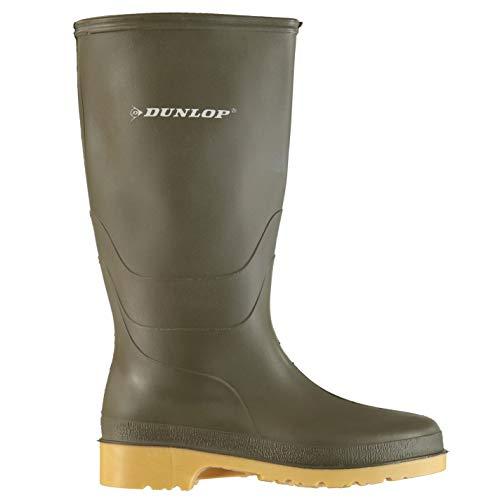 Dunlop Wellington - Botas de agua para mujer, impermeables, color verde, talla 3 (36)