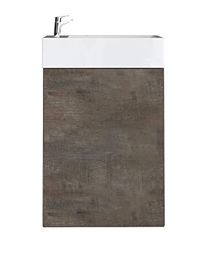 WC Badmöbel Angela 40x22 cm Stone ash - Schrank Waschbecken Badezimmer Toilette