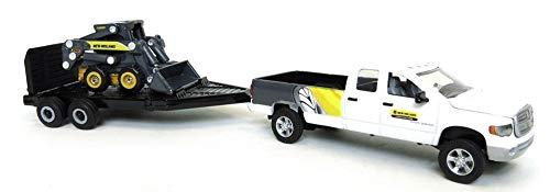 1:64 New Holland L170 Skid Steer Loader with Dodge Pickup Truck