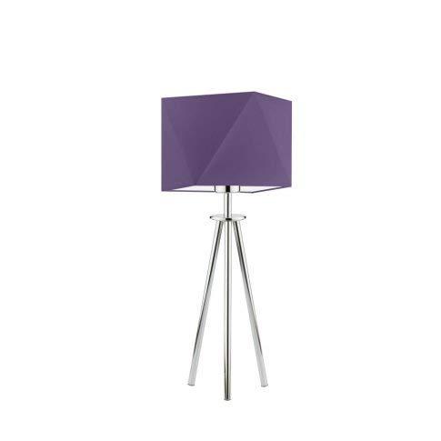 SOVETO - Lámpara para mesita de noche, pantalla de lámpara, marco de color